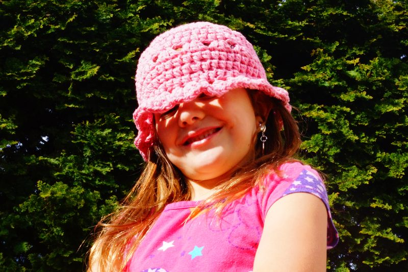 Shell Edging Crochet Hat by Eileen Tepper