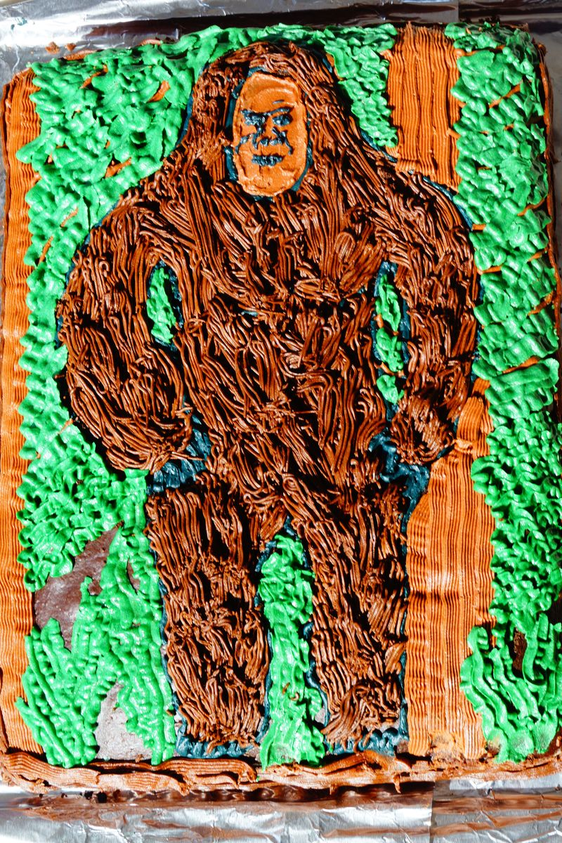 Bigfoot Sasquatch Birthday Cake