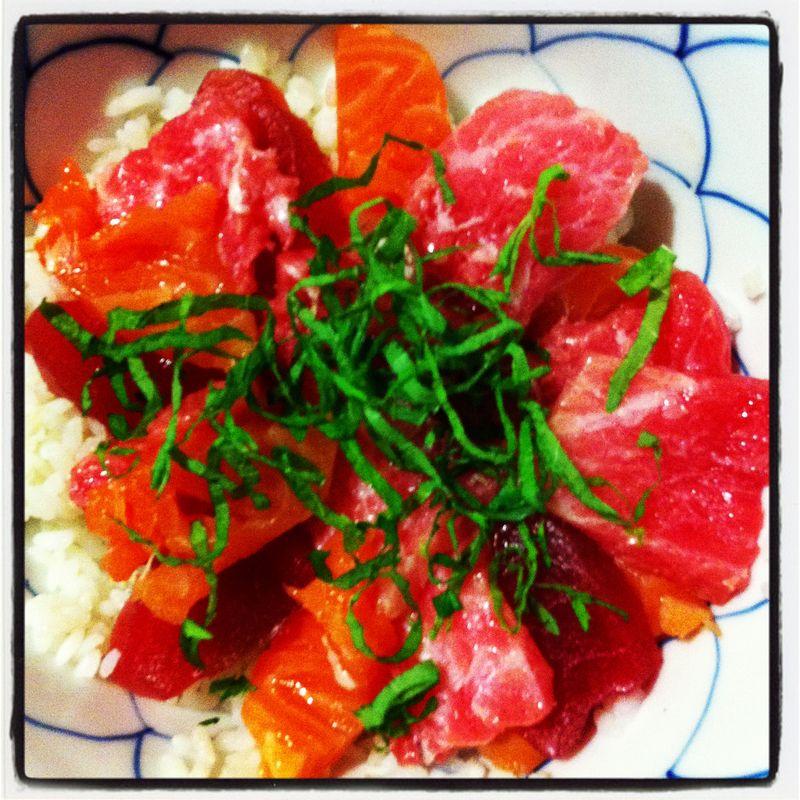 Maguro Donburi / Tuna Sashimi