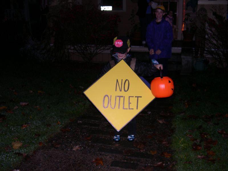 Street Sign Costume