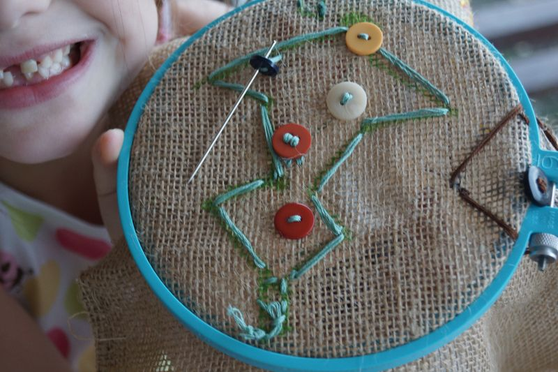 Crafting with Kids/Embroidery/Needlepoint